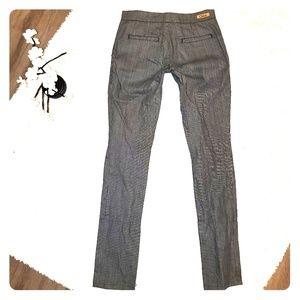 CHLOE' Pinstripe Ankle Zipper Trousers
